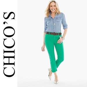 NWT CHICO'S SIZE 1 PLATINUM JEGGINS